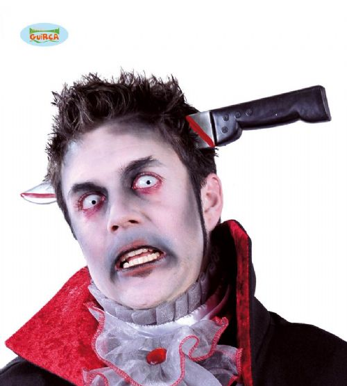 Adult Knife Through Head for Halloween Zombie Costume Accessory
